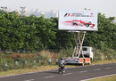 A billboard outside the circuit advertising the grand prix