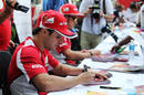 Felipe Massa signs autographs on Thursday afternoon