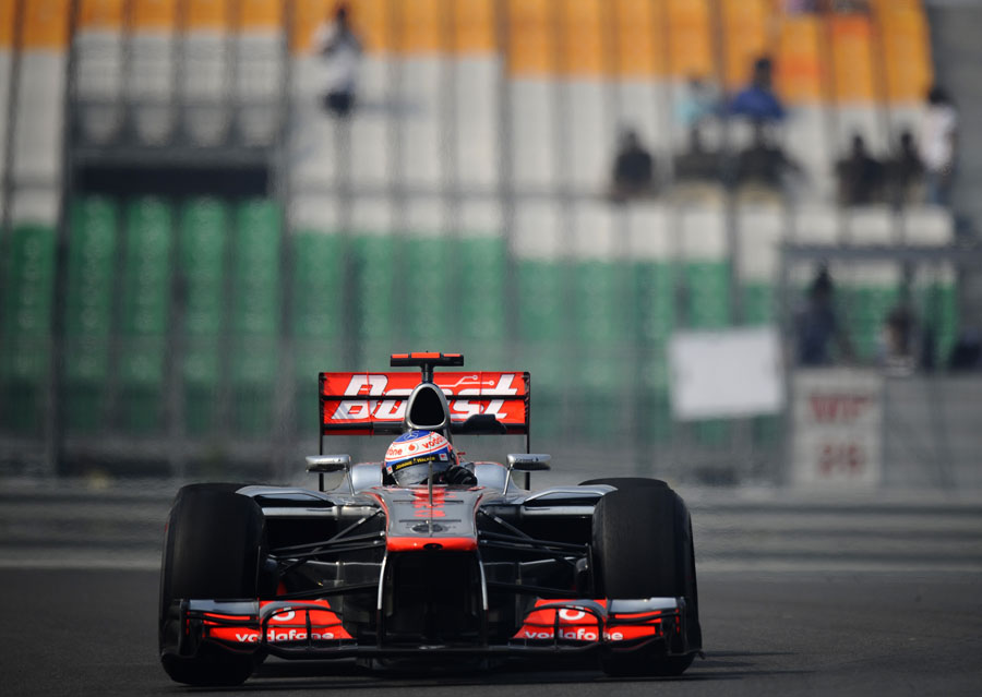 Jenson Button on track in his McLaren