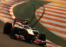 Lewis Hamilton on track in the McLaren in second practice