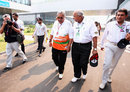 Force India team principal Vijay Mallya arrives in the paddock on Saturday