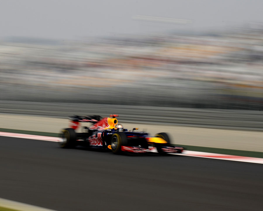 Sebastian Vettel on his way to the fastest time of the final practice session