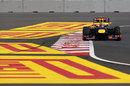 Mark Webber on track in the Red Bull