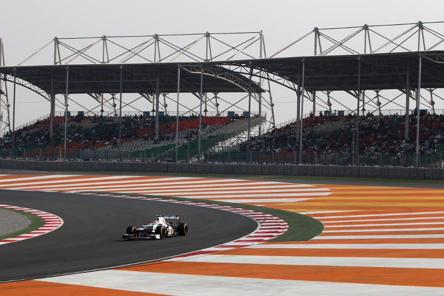 Sergio Perez attacks turn ten on the soft tyres