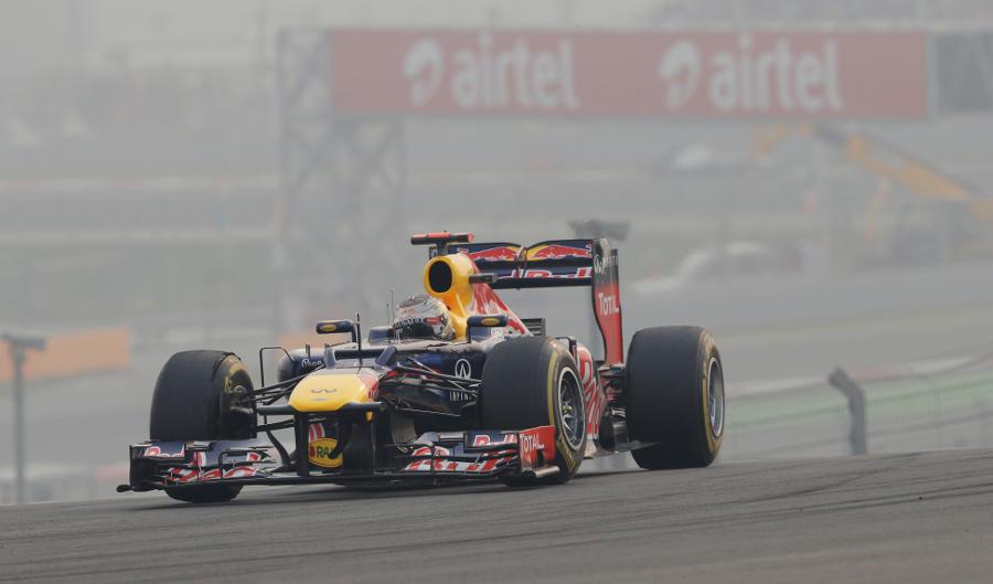 Sebastian Vettel on soft tyres