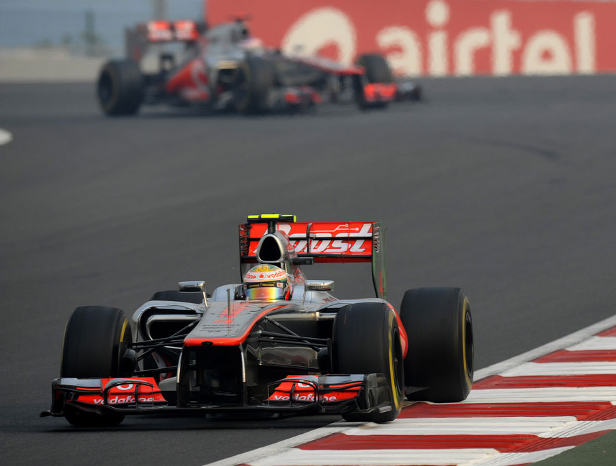 Lewis Hamilton leads Jenson Button