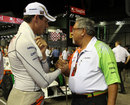 Vijay Mallya on the grid with Adrian Sutil