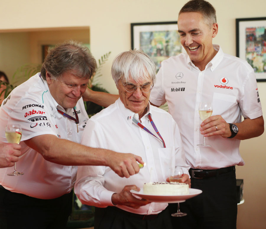 Bernie Ecclestone celebrates his 82nd birthday