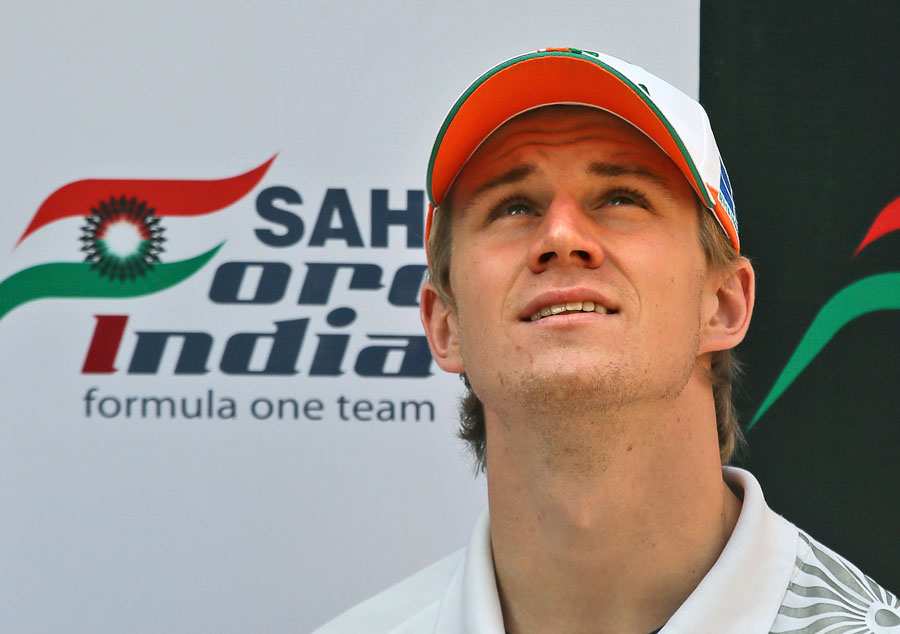 Nico Hulkenberg at a press conference
