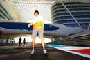 Paul di Resta walks the track in Abu Dhabi on Thursday