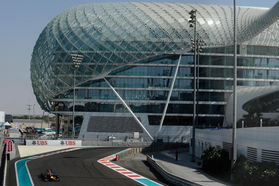 Sebastian Vettel on track during FP1