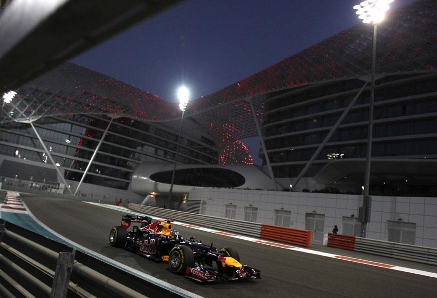 Sebastian Vettel exits turn 19