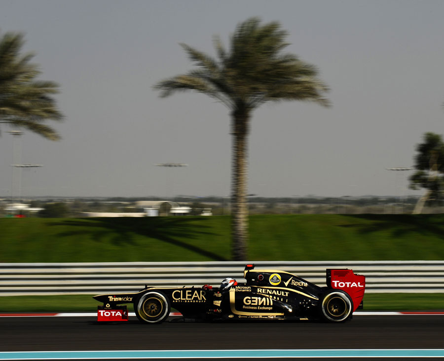 Kimi Raikkonen on track in the Lotus