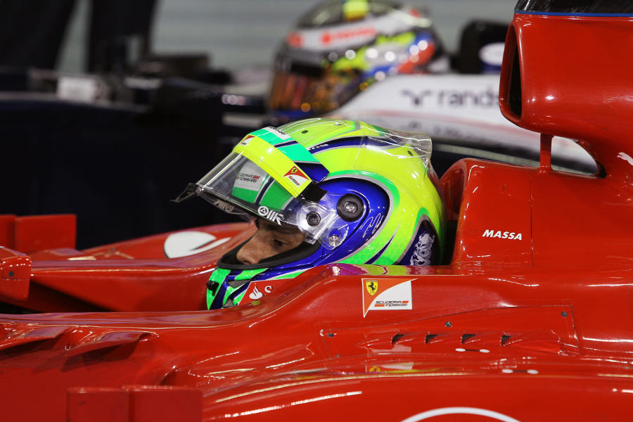 Felipe Massa returns to parc ferme after qualifying