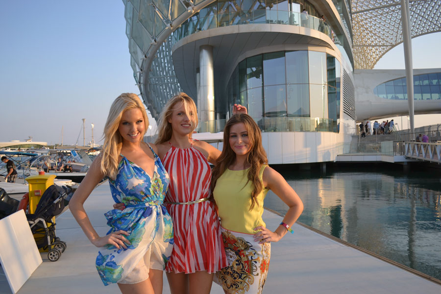 Guests at the Yas Hotel