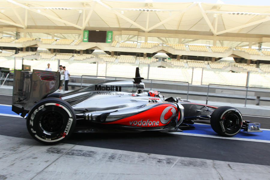 Kevin Magnussen heads out on track for McLaren