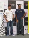 Narain Karthikeyan and Karun Chandhok at a press conference