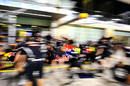 Red Bull practice pit stops on Thursday night
