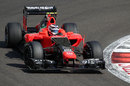 Max Chilton on track in the Marussia MR-01