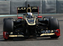 Davide Valsecchi on track in the Lotus