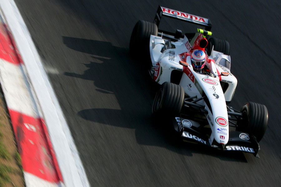 Jenson Button in action at the Parabolica
