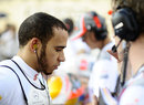 Lewis Hamilton focuses ahead of the race