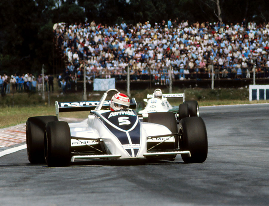 Nelson Piquet on his way to victory