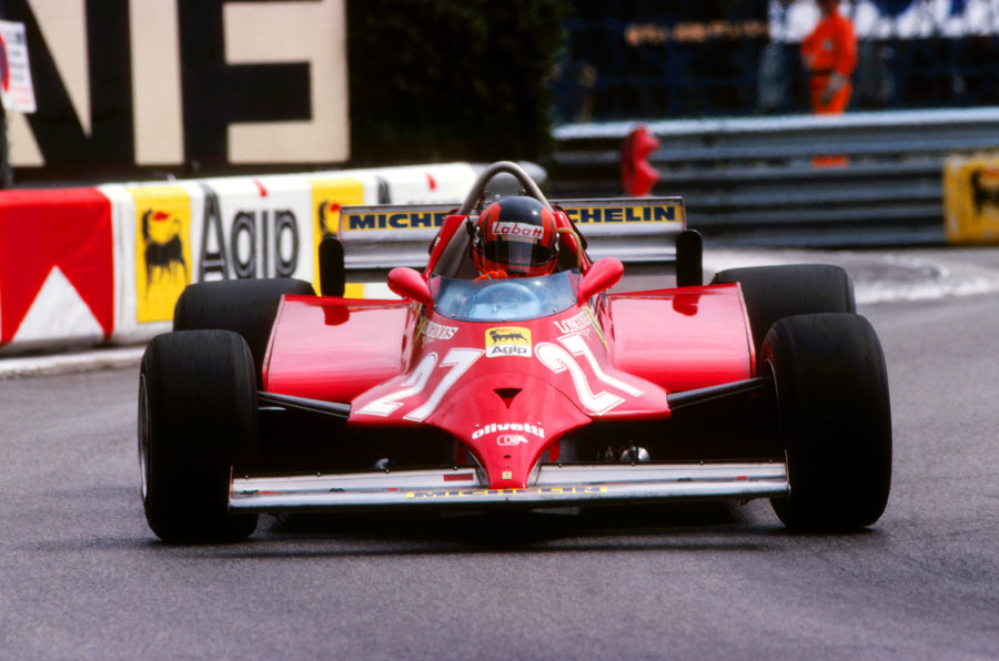 Gilles Villeneuve on the way to victory