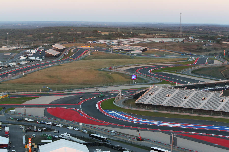 The view across to turn 11 from the observation tower