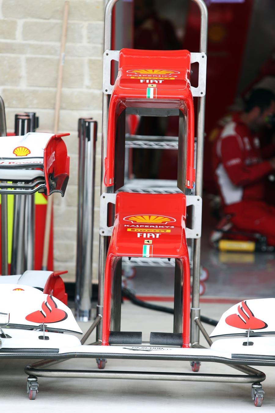 Ferrari nosecones in the Austin pit lane