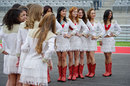 Grid girls on the track on Thursday