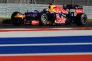 Sebastian Vettel on track in the RB8