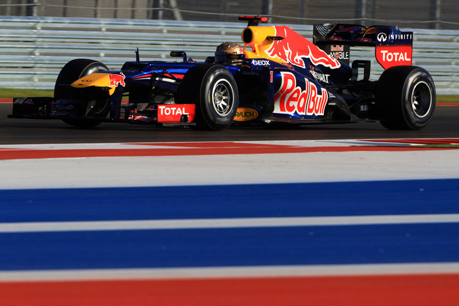 Sebastian Vettel on track in the RB8
