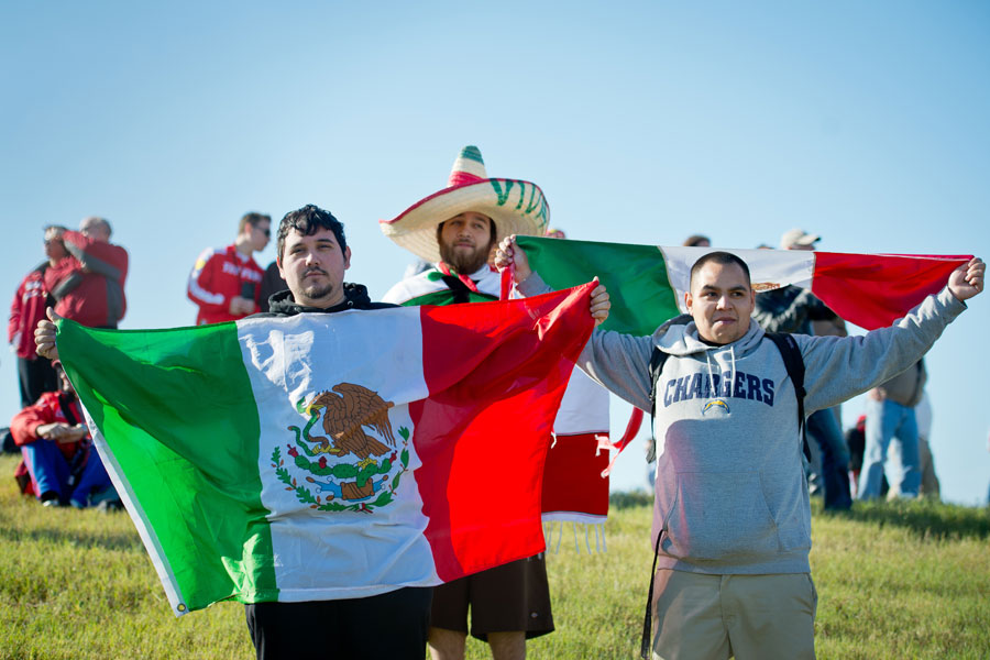 Mexican fans show their support for Sergio Perez