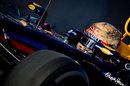 Sebastian Vettel heads out of the pit lane