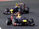 Sebastian Vettel leads Mark Webber