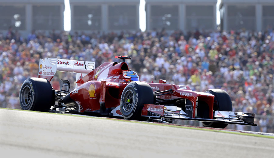 Fernando Alonso on his way to a podium finish
