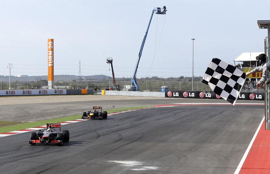 Lewis Hamilton leads home Sebastian Vettel by 0.6s