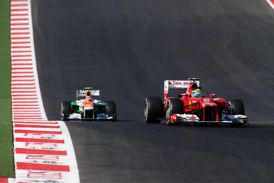 Felipe Massa leads Nico Hulkenberg