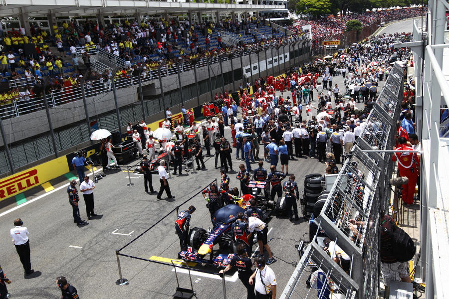 The grid ahead of the race