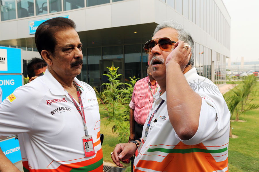 Subrata Roy had teamed up with liquor baron Vijay Mallya for his Force India Formula One auto racing team