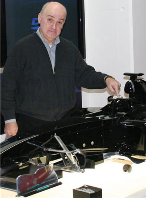 Zoran Stefanovic with a mock-up car