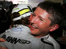 Nick Fry celebrates Jenson Button's championship