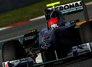 Michael Schumacher gets back on track in the Mercedes