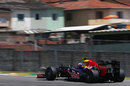 Mark Webber climbs the hill out of Juncao
