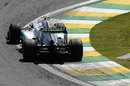 Nico Rosberg takes plenty of kerb