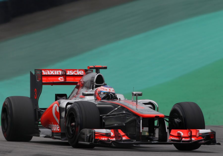 Jenson Button on track during final practice