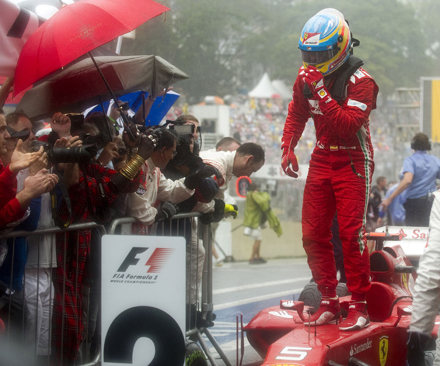 So near and yet ... second place wasn't quite good enough for Fernando Alonso