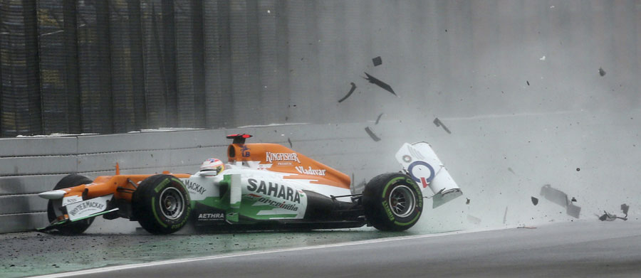 Paul di Resta's season ends in spectacular style