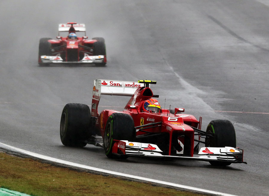 Felipe Massa concluded his strong end to the season with third place